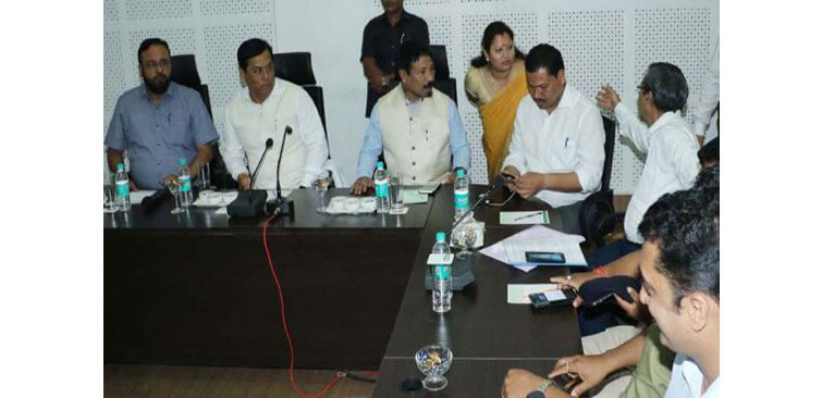 CM Sarbanada Sonowal During Review Meeting on KNP