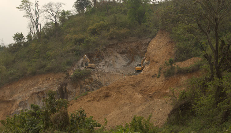 Mining Activity Karbi Anglong near Kaziranga