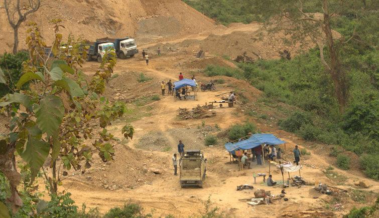 Mining at Karbi Anglong Region Kaziranga